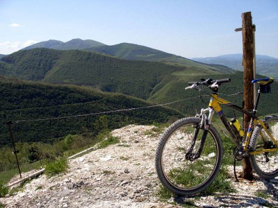 Mountainbike in Umbrien Italien